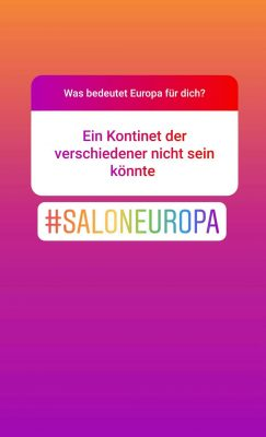 Screenshot Instagram: Was bedeutet Europa für dich? Ein Kontinent der verschiedener nicht sein könnte.